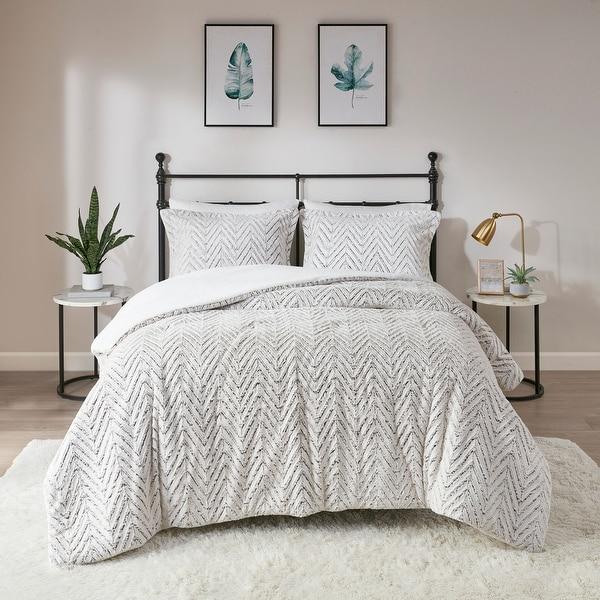 Madison Park Aurora Ivory Extra Warm Ultra Plush And Cozy Plush Down Alternative Comforter Set. Opens flyout.