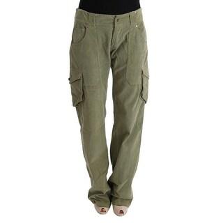 Ermanno Scervino Green Cotton Regular Fit Casual Pants - it46-xl