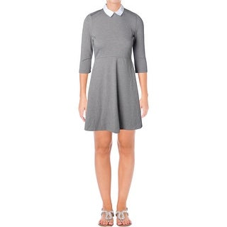 French Connection Womens Wear to Work Dress Collared 3/4 Sleeve