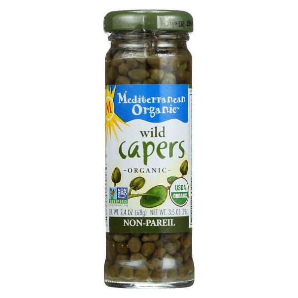 Mediterranean Organic Capers - Organic - Wild - Non-Pareil - 3.5 oz - case of 24