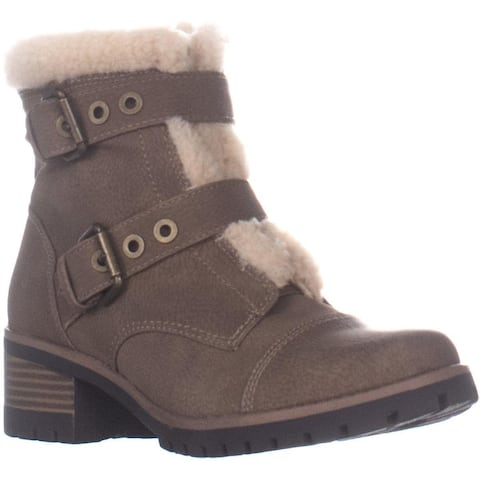 Anne Klein Lolly Winter Fashion Ankle Boots, Dark Natural Multi - 6.5 US