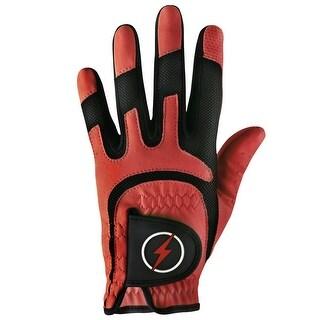 Powerbilt One-Fit Adult Golf Glove - Mens RH Red/Black