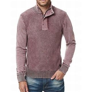 BUFFALO DAVID BITTON NEW Red Mens Size Small S Quarter Zip Sweater