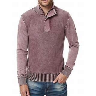 Buffalo David Bitton NEW Dusty Pink Mens Size Large L 1/2 Zip Sweater