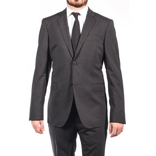 Pierre Balmain Wool Two Button Suit Dark Grey
