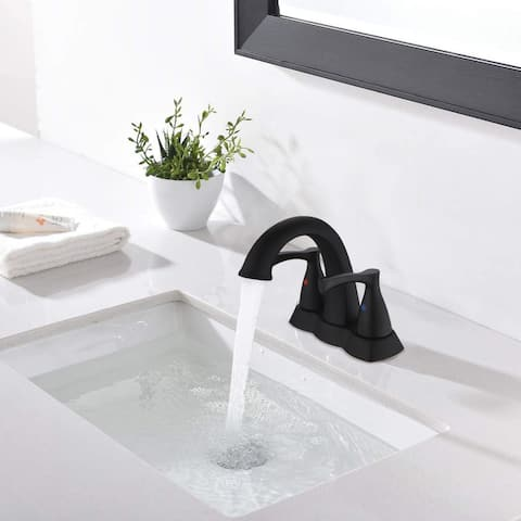Brass Single-Handle Bathroom Sink Faucet with Drain Assembly