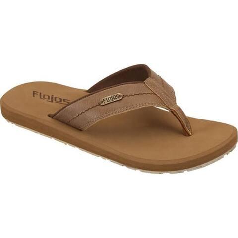 Flojos Men's Zane Flip-Flop Tan