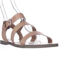 Dolce Vita Veya Flat Strapped Sandals, Caramel - 8.5 us