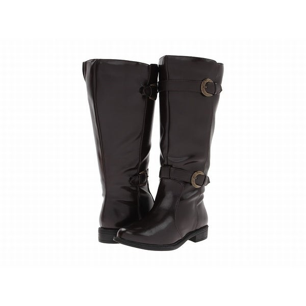 David Tate Brown Shoes Size 5M Knee-High Patent Leather Boots