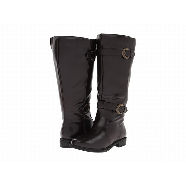 David Tate NEW Brown Shoes Size 5M Knee-High Patent Leather Boots