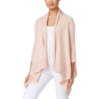 Cable & Gauge Womens Cardigan Sweater Pointelle Open Front