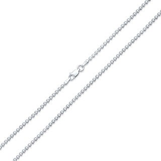 Shot Bead Ball Chain Necklace 220 Gauge Italian 925 Sterling Silver