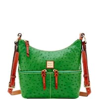 Dooney & Bourke Ostrich Embossed Leather Small Pocket Zipper Crossbody (Introduced by Dooney & Bourke at $238 in Apr 2018)