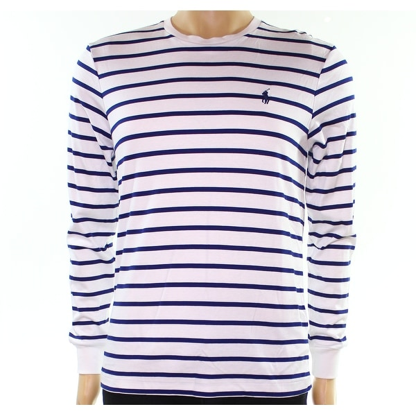 Polo White Shirt Mens Ralph Striped Small Tee T Lauren Size S R4j35LA