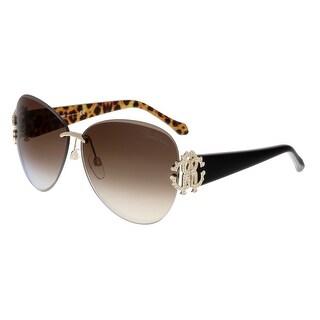 Roberto Cavalli RC901S HYADUM 28B Rose Gold Aviator Sunglasses