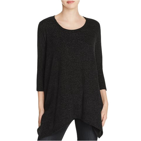 Nally & Millie Womens Knit Pullover Sweater, Black, Small
