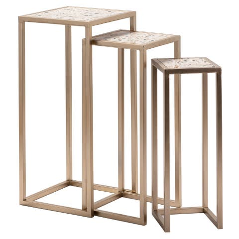 Ethniu Set of 3 Terrazo Nesting Tables