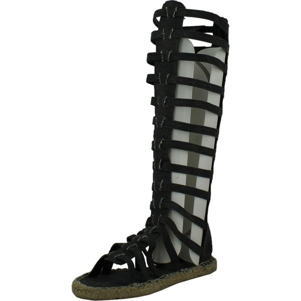 Fahrenheit Womens Leanne-04 Fashion Gladiator Sandals - Black Denim