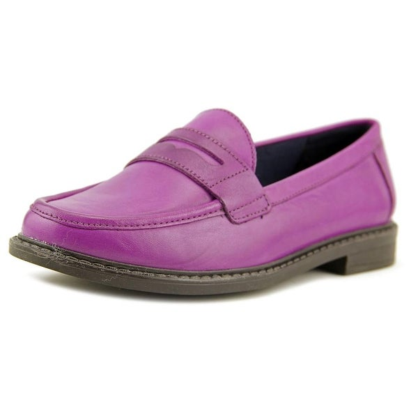 Cole Haan Pinch Campus Hand Stained Penny Loafer Women Grape Flats