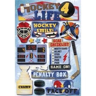 Karen Foster Hockey Cardstock Stickers 5.5 in.X9 in.-Hockey For Life