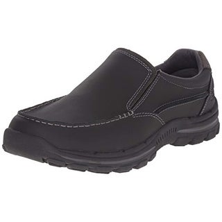 Skechers Men's Braver Rayland Slip-On Loafer,Black Leather