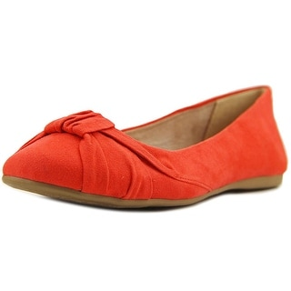 Style & Co Audreyy Women Round Toe Suede Red Flats