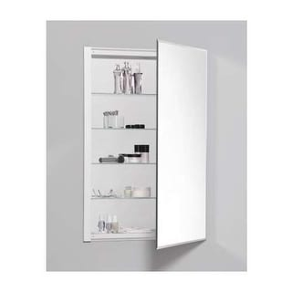 "Robern RC2436D4FB1 R3 24"" x 36"" x 4"" Beveled Single Door Medicine Cabinet with R"