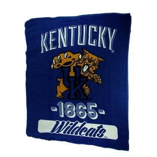 Retro Kentucky Wildcats Plush Micro Raschel Throw Blanket Blue 0 25 X 60 X 46 Inches