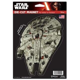 "Star Wars Millennium Falcon 6.25"" x 9"" Die Cut Magnet - multi"