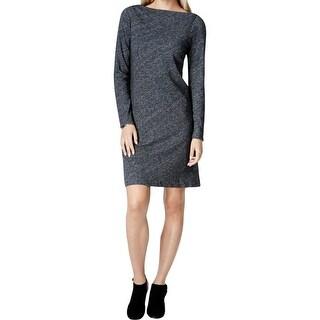Eileen Fisher Womens Sweaterdress Heathered Bateau Neck