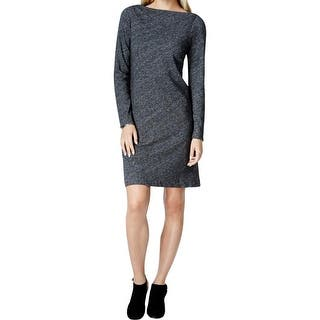 Eileen Fisher Womens Sweaterdress Heathered Bateau Neck|https://ak1.ostkcdn.com/images/products/is/images/direct/b4ff22d4ba2d0b4ad5d4fbf8535248e49b1c2d3a/Eileen-Fisher-Womens-Sweaterdress-Pullover-Bateau-Neck.jpg?impolicy=medium
