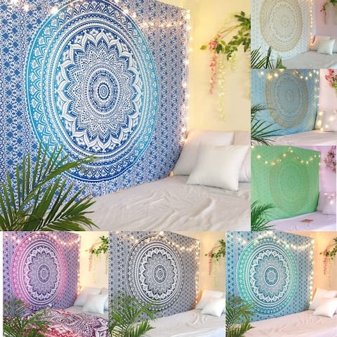 Oussum Home Decorative Mandala PatternTapestry Wall Hanging Bedroom Decor Beach Tapestries For Dorm Decoration