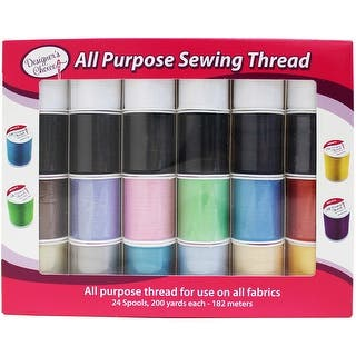 Designer's Choice All Purpose Sewing Thread-24/Pkg|https://ak1.ostkcdn.com/images/products/is/images/direct/b4ff69ff4b5f26859cf81ee4b10fe86234ef826f/Designer%27s-Choice-All-Purpose-Sewing-Thread-24-Pkg.jpg?impolicy=medium