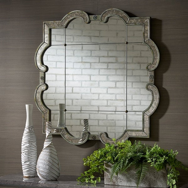 Fantina Antique Silver Paned Wall Mirror by iNSPIRE Q Classic. Opens flyout.