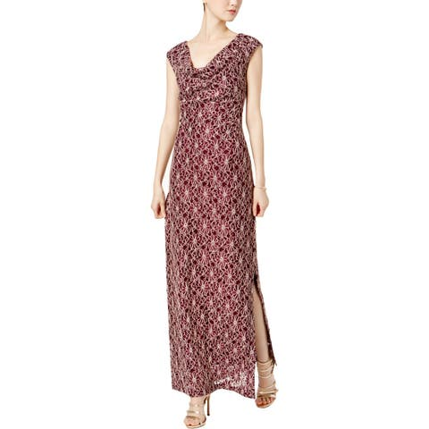 Connected Apparel Womens Evening Dress Lace Full-Length