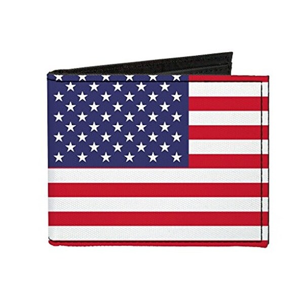 Buckle-Down Canvas Bi-fold Wallet - United States Of America Flag Accessory