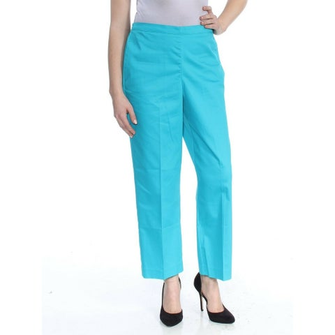 Alfred Dunner Blue Women's Size 16 Short Stretch Classic Fit Pants