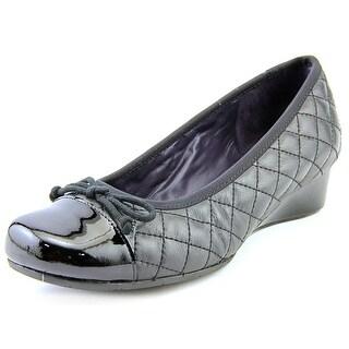 Vaneli Melore W Open Toe Leather Wedge Heel