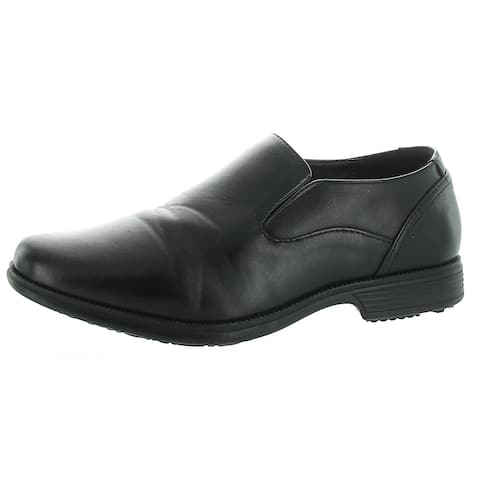 Perry Ellis Boys Samuel Dress Shoes Faux Leather Slip On - Black - 10-11 Medium (D) Little Kid