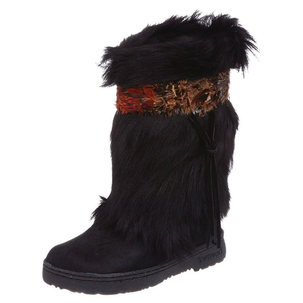 Bearpaw Boots Womens Comfortable Kola Fur Feather Shaggy