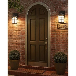 Lovee 9W LED Vintage Outdoor Wall Light, 3000K Warm White