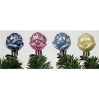 No.of 27679 Iridescent Rosebud Clip On Glass Christmas