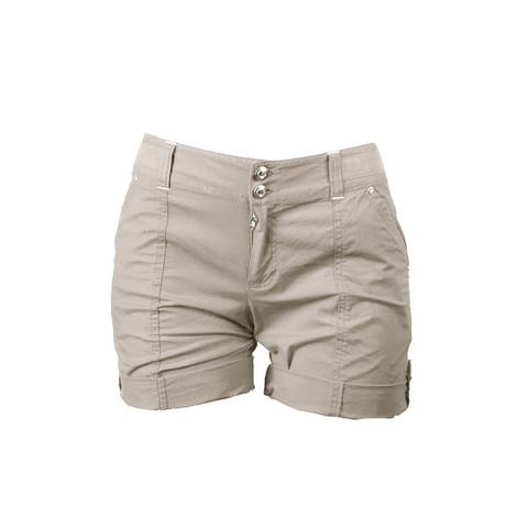 Inc International Concepts Toad Beige Cuffed Twill Shorts 0