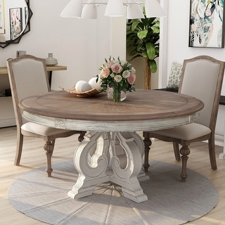 Link to The Gray Barn Caelum 60-inch Antique White Round Dining Table Similar Items in Dining Room & Bar Furniture