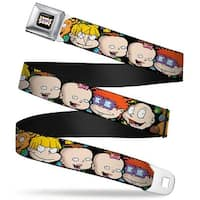 Rugrats Logo Rugrats Character Faces Close Up Webbing Seatbelt Belt Fashion Seatbelt Belt