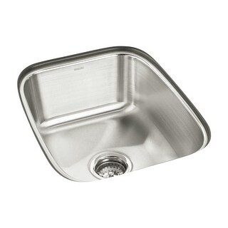 "Sterling 11449 SpringDale 16-1/2"" Single Basin Undermount Stainless Steel Bar Sink with SilentShield"