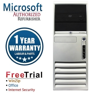 Refurbished HP Compaq DC7700 Tower Core 2 Duo E6300 1.86G 4G DDR2 160G DVD WIN 7 PRO 64 1 Year Warranty - Silver