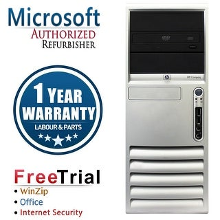 Refurbished HP Compaq DC7700 Tower Core 2 Duo E6300 1.86G 4G DDR2 500G DVD WIN 10 Home 64 1 Year Warranty - Silver