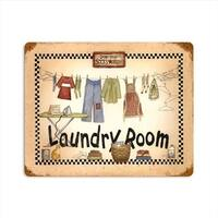 Past Time Signs  Laundry Room Home and Garden Vintage Metal Sign