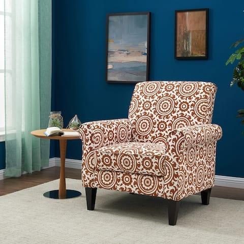 Copper Grove Virgie Dana Orange Medallion Arm Chair